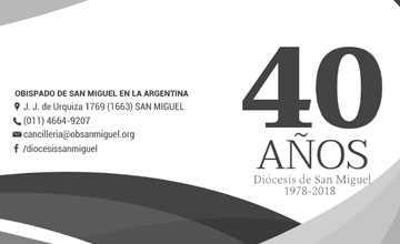 40 años de la Diócesis de San Miguel